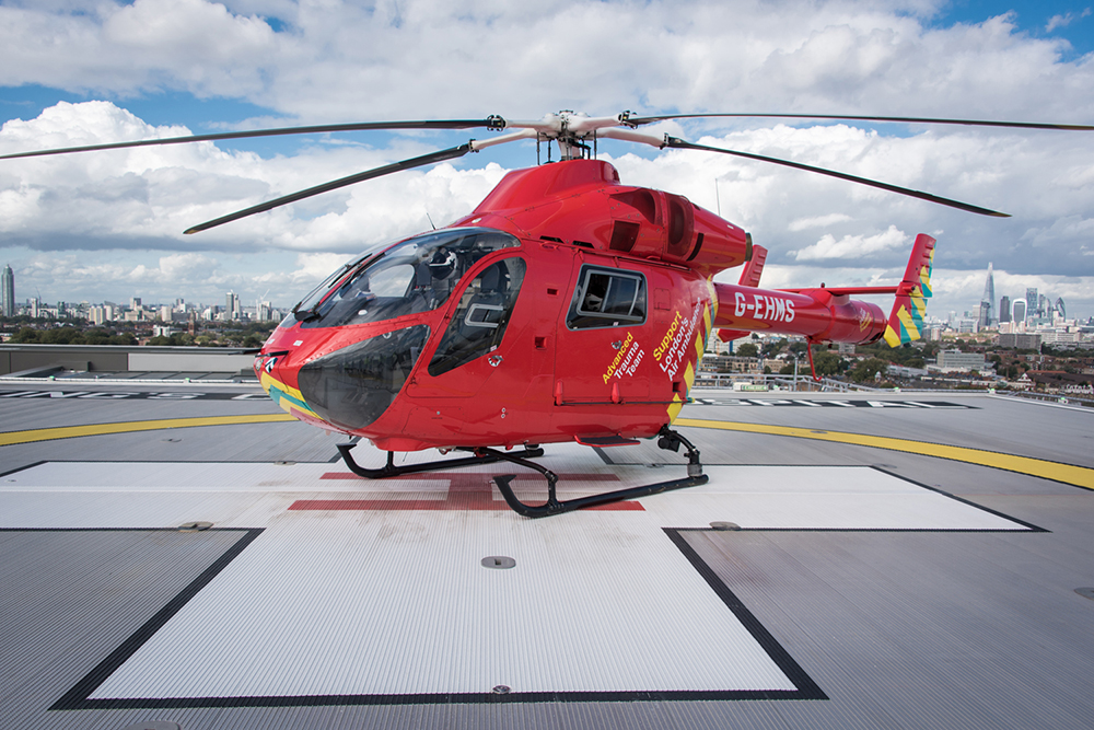 UK's first elevated rooftop helipad with a Deck Integrated Fire Fighting System certified to UK CAA standards